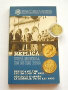 H942 Romania 20 Lei 1922 Gold National Bank Official Coin 500 Pieces Low Mintage