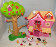 2011 Mini Lalaloopsy Sew Sweet Playhouse Playset - Treehouse Car Snowy And Blossom