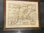 1676 John Speed And Francis Lamb Map Of New England And New York Authentic