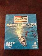 L6vc Lot Of 10 Champion  Marine Boat Copper Engine Spark Plugs Outboard 885m