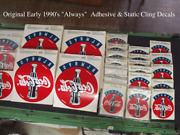 Coca-cola 550 Decals Rare 1990and039s Always Authentic Decals/signs 18x 24 550 Pcs