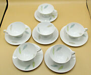 Raymond Loewy Form 2000 For Rosenthal - Bunte Blatter - Six Cups And Saucers
