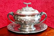 Antique German Pewter Tureen With Plate, Germany, 1837