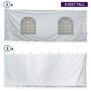 40ft Hexagon High Peak Tent Sidewall Kit Solid And Cathedral Window 16oz Blockout