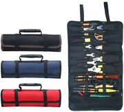 Large Wrench Roll Up Tool Roll Pouch Bag Big Tote Carrier Organizer Portable
