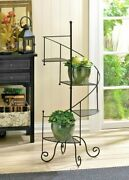 Plant Stands Vintage Rustic Tall Decorative Spiral Showcase Tiered Plant Stand