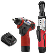 Acdelco 12v 3/8 Brushless Ratchet Wrench And Impact Wrench Combo Kit Arw12103-k1