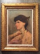 Oil Painting Original Lisa Framed And Signed By Stuart Kaufman 1926-2008