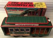 1950's Japan Vintage Friction Tinplate Litho San Francisco Cable Car Toy Boxed