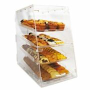 4 Tier Front And Rear Door Acrylic Bakery Display Case Rack Winco Adc-4 New 9919
