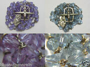 Anddagger Vintage Sterling Purple Lavender Changing To Blue Alexandrine Glass Rosary Anddagger