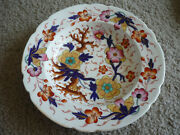 Antique Gaudy Welsh Plate W/ Polychrome Colors Early 1800and039s Hand Painted