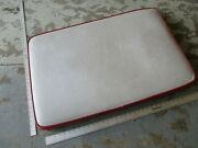 Four Winns Sun Downer Boat Rear Middle Seat Cushion Red White