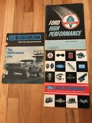 Rare 1965-1967 Ford Performance Brochures And Shelby Parts And Accessories Catalog