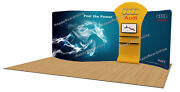Trade Show A9 Display Booth Package S 20ft Tv Stand Display Shelves Kiosk