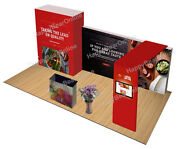Trade Show 20ft Fabric Exhibition Booth Store Room With Graphic Z-07