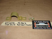 Oem 64 Cadillac Coupe Deville 429 Engine A/c Hose To Rad Support Bracket And Bolts