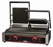 New 23 Double Electric Ribbed Panini Press Grill Winco Epg-2 9977 Etl Sandwich