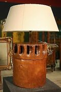 Lamp Wood Painted Fabric Light Chandelier Decoration Object Antique Style 900 Xx