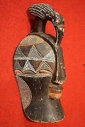Sculpture African Wood Painting Mask Antique Style 900 Xx Collectibles Opera