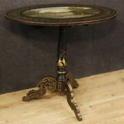 Small Table English Furniture Table Sailing Wooden Lacquered Painting