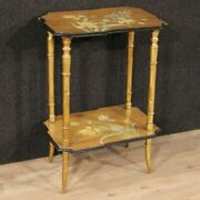 Side Table Furniture Nightstand Living Room Wood Lacquered Painted Antique Style