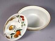 Royal Worcester Evesham Oval Covered Vegetable Casserole Oven To Table Baking