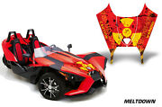Roadster Hood Graphics Kit Decal Wrap For Polaris Slingshot Sl 15-16 Mltdwn Y R