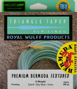 Royal Wulff Premium Bermuda Textured Saltwater 9 Wt Fly Line Free Fast Shipping