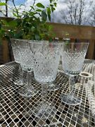 Lenox Crystal Beacon Hill Water Goblet 7 1/2 Stunning 6 Stems