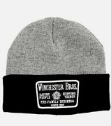 Supernatural Winchester Bros. Dean Sam Patch Watchman Beanie Hat Official New