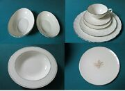 Weatherly Pattern By Lenox Bowls Dinner Plates Cup Saucer Federal Platinum Wheat
