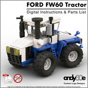 Digital Instructions Only Custom Lego Ford Fw-60 4wd Tractor I Town City Farm Andnbsp