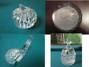 Waterford Crystal Paperweight Apple Detroit Red Wings Golf Club Head Bell Pick1