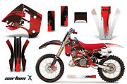 Decal Graphics Kit Wrap + Plates For Ktm Exc Mxc 250 300 1990-1992 Carbonx Red