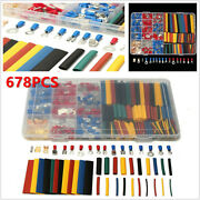 678pc Car Suv Wire Electrical Kit 350 Terminal Connectors + 328 Heat Shrink Tube