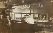 Antique Anheuser Busch Beer Pale Lager Sign Cigar Chicago Or In Bar Rppc Photo