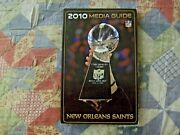 2010 New Orleans Saints Media Guide Yearbook Super Bowl Drew Brees Program Ad