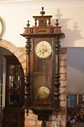 Antique German 'junghans' 10-day Striking Wall Clock, 19th Century