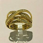 Brand New 18k Yellow Gold With 1.60ct Total Weight Diamonds Fashion Ring