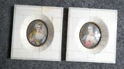 Antique Pair Of French Miniature Paintings