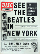 Disc Magazine 23 May 1964 . The Beatles In New York Front Cover . Not Nme