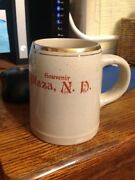 Sherwood Pottery Mug Plaza North Dakota Nd With Slogan Souvenir Makoti Stanley