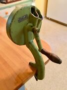 Vintage Depoi Cast Iron Kitchen Counter Top Clamp-in Hand Crank Vegetable Slicer
