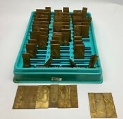 New Hermes Engraving Brass Font Letters Numbers Old English 97 Piece 101387