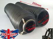Universal Rubber Fork Tubes Dust Cover Gaiters Gators Motorcycle 35x55x250