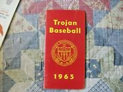 1965 Usc Trojans Baseball Media Guide Yearbook Track And Field Nat Champ Program