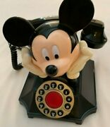 Mickey Mouse Phone Telemania Segan Rotary Look Push Button