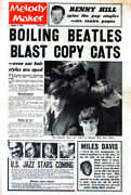 Melody Maker 3 Aug 1963 . The Beatles Front Cover . Not Nme