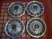 1980 Mercury Cougar And 1981-82 Cougar Xr-7 Set Of Four 14 Oem Wire Hubcaps